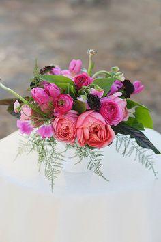 Petal Floral Design I #tulips #peonies #berries