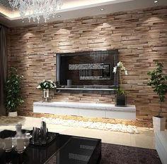 PVC Wood Stone Brick Wallpaper 3D Modern Wall Paper Luxury Classic Vintage Wallpaper Living Room Background Wall Decor