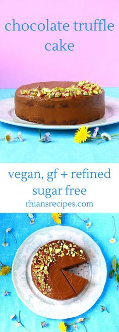 Sinfully decadent yet unbelievably healthy, this Gluten-Free Vegan Chocolate Truffle Cake is guaranteed to be your new favourite dessert!