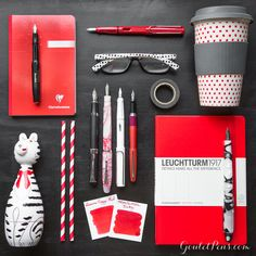 What's black and white and red all over? These pens, ink and notebooks will make your writing pop.