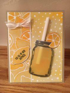 Stampin' Up!  Fruit Stand Designer Series Paper, Jar of Love Stamp Set, Everyday Jar Framelits.  www.juststampin.com