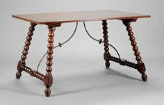A Spanish Renaissance-Style Refectory Table : Lot 942