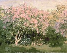 "Claude Monet, 1872 ~ ""Lilacs in the sun"""