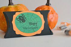 Happy Halloween Boxes  Black Favor Boxes  by PaperWondersShop