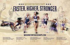 Bellevue Print Design, for Husky Track Camps