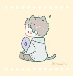 Cute Anime Chibi, Anime Love, Kawaii Anime, Chibi Girl Drawings, Kawaii Drawings, Cute Little Drawings, Cute Drawings, Cute Wallpaper Backgrounds, Cute Wallpapers
