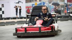 Donnie go-carts like a pro.