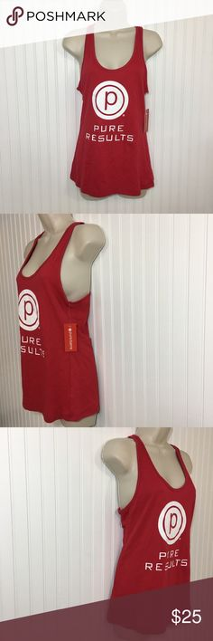 e59e053476b1c NWT Pure Barre Pure Results Graphic tank top M red New with tags Pure Barre  Graphic