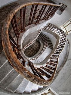 """""""... down ..."""" Stairway in an abandoned House"""
