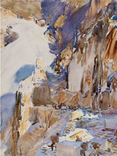 John Singer Sargent Carrara A Quarry 1911 Translucent And Opaque