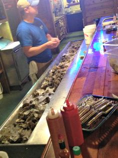 Fresh oysters are shucked daily by hand at Papa Joe's Oyster Bar and Grill in Apalachicola.