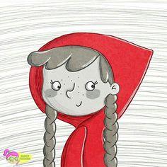Rotkäppchen #einefarbereicht Illustration Doodle Zeichnung von Sandy Thissen #illustrationfürkinder #illustration #zeichnung #zeichnen #rotkäppchen #redridinghood