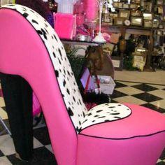 Pink High Heel Chair