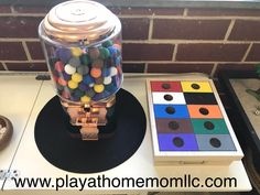 Letter Recognition, Number Recognition, Learning through play, Color Recognition, Fine Motor Skills Kids Learning Activities, Home Activities, Beads To Make Bracelets, Kids Play Centre, Wood Burning Tool, Gumball Machine, Letter Recognition, Learning Through Play, Educational Games