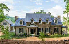 My dream home.The Southern Living Idea House Designed by Bunny Williams Farmhouse Plans, Farmhouse Design, Farmhouse Style, Texas Farmhouse, Southern Living Homes, Coastal Living, American Farmhouse, Stone Houses, House Floor Plans