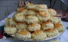 Borzas sajtos pogácsa My Recipes, Vegan Recipes, Dessert Recipes, Hungarian Desserts, Savory Pastry, Baking And Pastry, Food And Drink, Pizza, Yummy Food