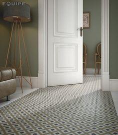 Caprice White, DECO City Colours 20x20. retro encaustic inspired floor #black and white, #ceramic tiles, #ceramic, #design, #interior design, #modern, #patchwork, #modern, #pastel, #bright, #warm, #cold, geometric forms, #hydraulic tile, #hydraulic, #equipe, #equipe cerámicas: