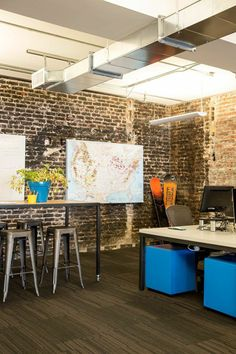 This May Be The Most Chic Startup Office We've Ever Seen #refinery29  http://www.refinery29.com/liftopia-startup-chic-office#slide-12  The work space looking picture-perfect.