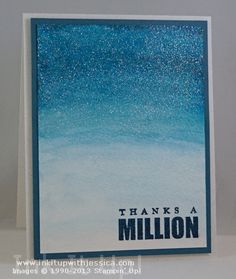 Shimmer and Shine Glitter Card #thankyoucard #cardmaking #stampinup