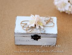 Wedding Rings Box Rustic Wooden Ring Box Shabby Chic Alternative Ring Pillow Custom Ring Bearer Bride and Groom We Do Wedding Box