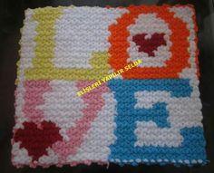 Knitted Slippers, Erdem, Crochet Squares, Hearts, Blanket, Knitting, Character, Punto De Cruz, Dots
