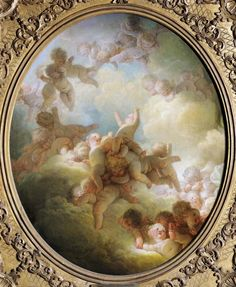 *Rococo Revisited - The Swarm of Cupids, by Jean-Honoré Fragonard Jean Fouquet, Jean Honore Fragonard, Little Cherubs, Pablo Picasso, Images Vintage, Angels Among Us, French Art, Cupid, Find Art