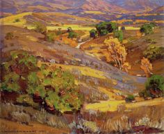 William Wendt. California Gold, 1924. Oil on canvas. 20 x 24. (50.8 x 60.96 cm)
