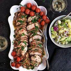 Marinerad fläskfilé med fransk potatissallad | Mitt kök