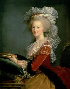 Portrait of Marie Antoinette by Elisabeth Louise Vigee Le Brun. Marie Antoinette, Female Painters, French Royalty, Maria Theresa, 18th Century Fashion, 17th Century, Elisabeth, King Queen, Mario