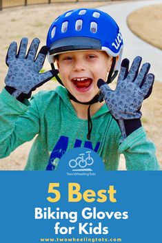 Looking for a good quality pair of biking gloves for your child? Check out our list of the 5 best biking gloves for kids (and find out why your little rider needs them in the first place! Cycling Outfit, Cycling Clothing, Best Kids Bike, Bicycle Helmet, Bike Helmets, Toddler Bike, Bike Equipment, Bike Gloves, Healthy Kids