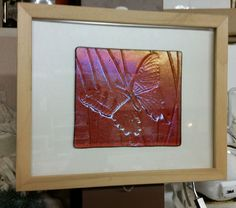 framed fused-glass irid butterfly ... https://www.facebook.com/claytonhillstudio