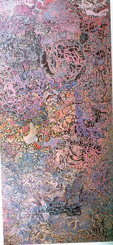 Janet Sobel abstract painting where the main focus is the colour pink Abstract Expressionism, Abstract Art, Encaustic Art, Drip Painting, Love Art, Female Art, Les Oeuvres, Art History, Photo Art
