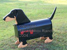 Black and Tan Dachshund Mailbox.