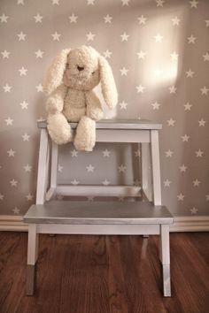 Neutral Natural Baby Nursery White Cream Gold Black Barnrum Pinterest Binet Star Wallpaper And Farmhouse