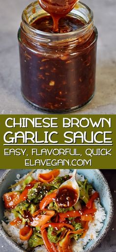 Chinese Garlic Sauce (Szechuan Sauce) - This Chinese Garlic Sauce is a flavorful, hearty, and satisfying brown stir-fry sauce. It's a del - Chinese Garlic Sauce, Chinese Brown Sauce, Chinese Sweet Sauce Recipe, Spicy Garlic Sauce Recipe, Chinese Stir Fry Sauce, Stir Fry Seasoning, Garlic Recipes, Soy Sauce, Gastronomia
