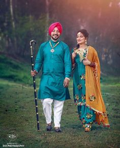 Punjabi Wedding Couple, Punjabi Couple, Punjabi Bride, Punjabi Suits, Anarkali Suits, Cute Couple Images, Couples Images, Cute Couples, Romantic Couples
