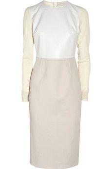 Stella McCartney|Color-block wool-blend dress|NET-A-PORTER.COM - StyleSays