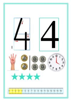Monografia liczb Kindergarten Math, Teaching Math, Teaching Resources, Maths, Math Games, Preschool Activities, School Frame, Math For Kids, Numbers