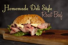 It's so easy and incredibly affordable to make your own deli style roast beef for sandwiches. From EatingRichly.com