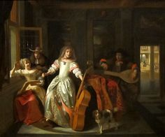 The Athenaeum - A Musical Conversation (Pieter de Hooch - ) Delft, Pieter De Hooch, Renaissance, Important Inventions, Dutch Golden Age, Johannes Vermeer, Old Master, Woman Painting, Beautiful Paintings