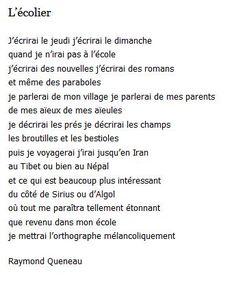 Raymond Queneau - L'écolier