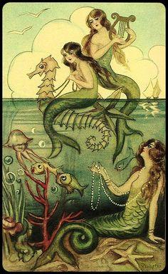 Sirenas - Antigua ilustraciòn