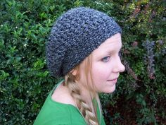 I like this amount of slouch, maybe a smidge more, not too much, not too little.  Adult Slouchy Hat ~ Free Crochet Pattern