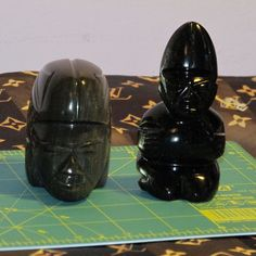 Stunning Vintage Shabby Chic Blackamoor Stone Heads Figurines Lot of 2