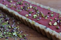 ... Rose Tart with a Gluten-Free Cardamom Pistachio Shortbread Crust