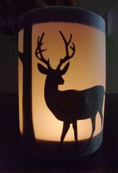 DIY christmas lantern - deer - paper - decor