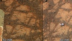 OVNI Hoje!Rocha misteriosa aparece na frente do jipe-sonda Opportunity em Marte (ATUALIZAÇÃO: 23/1/2014 - 20h00min) » OVNI Hoje!