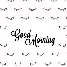 Rise and shine! It's a brand new week! #Lashes