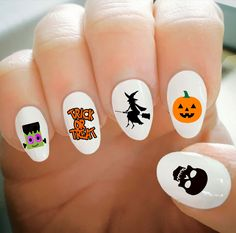 Nail Decals, Halloween Nail Decals, Water Transfer Nail Decals, Nail Tattoo, Fashionable Nail Art, Custom Nail Decals by ShopRisasPieces on Etsy