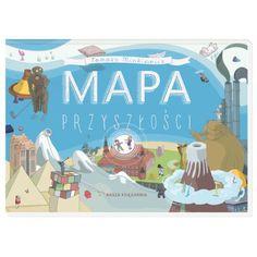 Mapa przyszłości to niezwykła książka w formie harmonijki. Można ją oglądać strona za stroną albo rozłożyć na podłodze, by śledzić przygody głównych bohaterów.